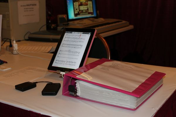 BT-105 with iPad replaces music binder